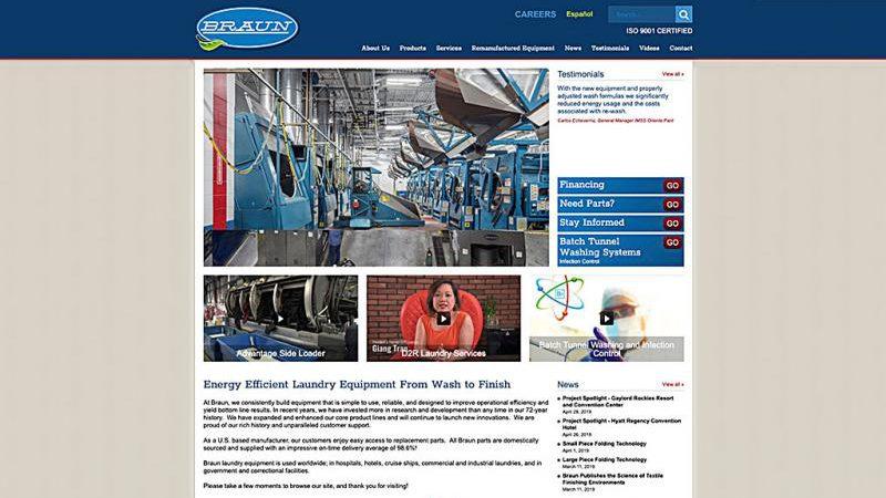 G.A. Braun Launches new Website